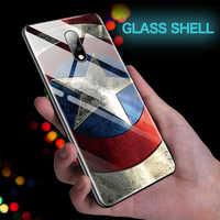 Marvel Железный человек Капитан Америка стеклянный чехол для телефона Oneplus 5 5T 6 6T 7 7Pro Мстители Капитан Бэтмен Marvel чехол Coque Funda