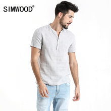 e20a017eb11 SIMWOOD 2019 Summer Shirts Men Short Sleeve 100% Pure Linen Plus Size  Casual Shirts Brand Clothing Free Shipping 180035-in Casual Shirts from Men s  Clothing ...