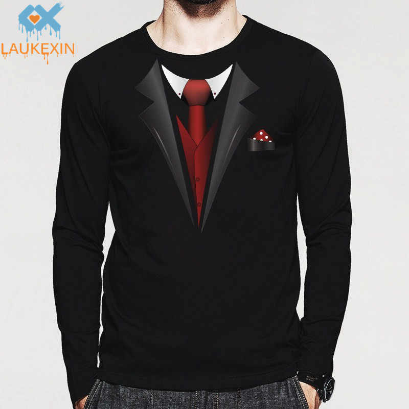 fe70fc51a Detail Feedback Questions about New Tuxedo Fancy Men T Shirt Print Stag  Party Tux Longsleeve O Neck Man Tshirt Top Cotton Harajuku Funny Full  Sleeve Mens ...