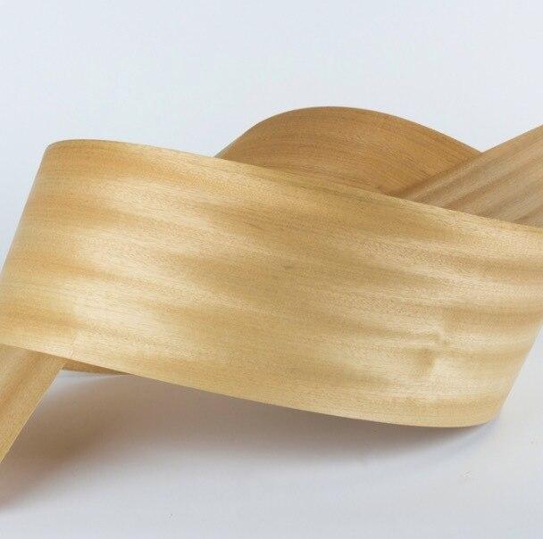 2 unids/lote L: 2,5 metros de ancho: 160mm de espesor: 0,5mm Birmania natural oro Shaddock cáscara de chapa de madera