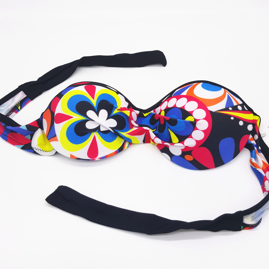 New Style Printing Women Bikini Set Bandage push up Padded Swimwear Underwear Bra Adjustable Strap Sexy Swimsuit 9