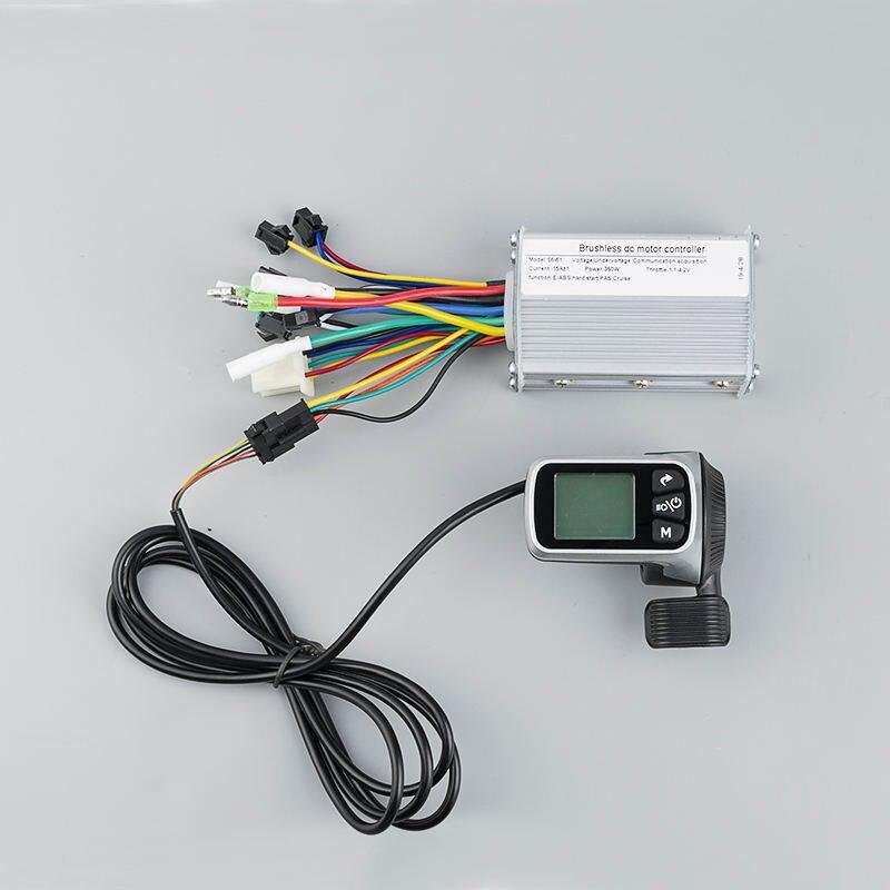 Vélo électrique 250 W 350 W 24 V 36 V 48 V LCD affichage vélo électrique BLDC contrôleur sans brosse kiti pour accessoires de Scooter électrique