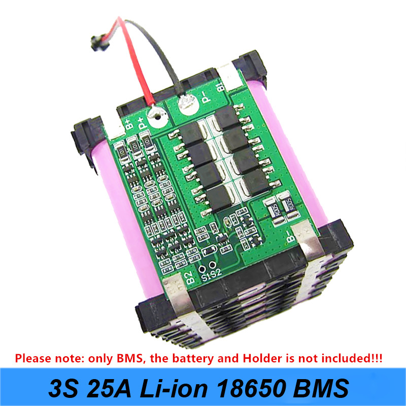For Screwdriver 3S 25A Li-ion 18650 BMS PCM Battery Protection Board BMS PCM With Balance For Li-ion Battery Cell Pack Module AU