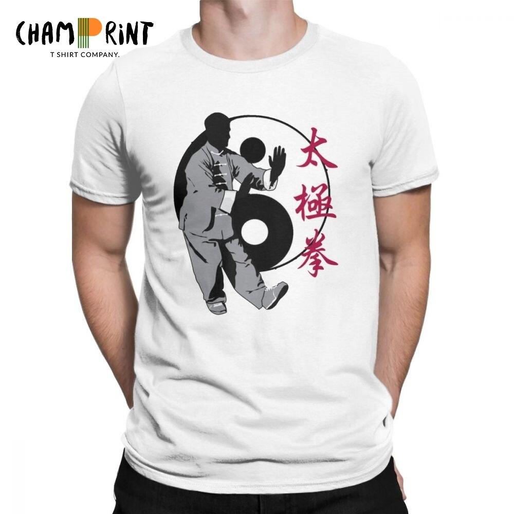 Мужская футболка Tai Chi Chuan Pa Kua Yin Yang забавная хлопковая футболка с коротким рукавом Одежда с круглым вырезом плюс размер