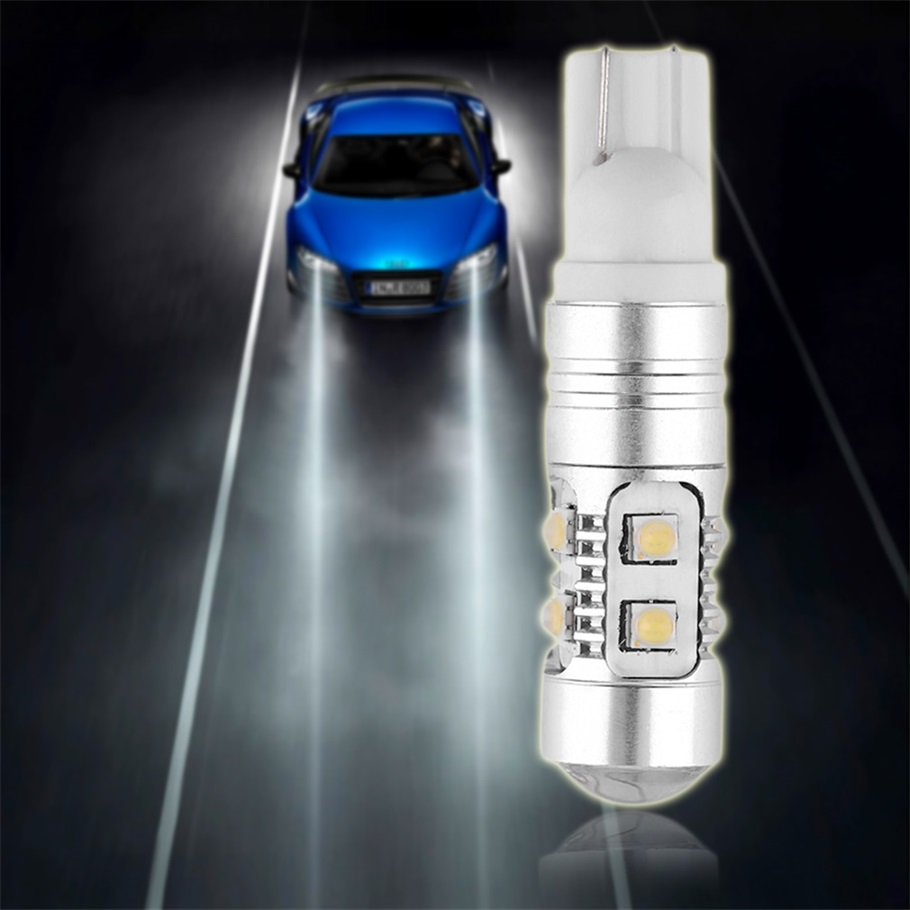 Automobiles White T10 50W W5W LED Super Bright White Car DRL Signal Light Bulb 194 168 Vehicle Side Wedge Tail Light Accessory 10pcs t10 led bulb 5 smd 5050 led t10 w5w 194 168 car light source lamp t10 5 led dash indicator signal side wedge tail light