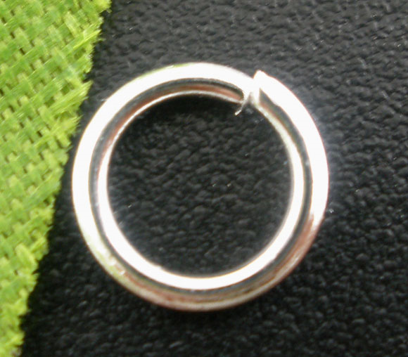 Doreen Box Lovely 500PCs Silver color Open Jump Rings 7mm Dia. Findings (B03065) ручной инструмент die 14 5 7mm 20 dia