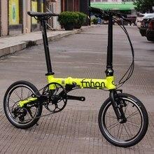"""Fnhon свободный алюминиевый складной велосипед 1"""" Мини веловелосипед V тормоз складной 3 скорости городской коммутирующий велосипед"""