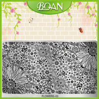 1 PC BQAN Flower Series DIY Little Flowers 16x10 5cm Nail Art Stamping Printing Decoration