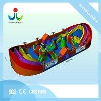 Надувная лодка модель развлекательный замок с препятствиями, надувные дети palyground и слайд для продажи