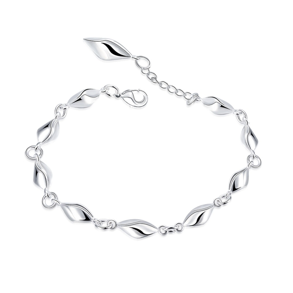 SLB002 925 silver bracelet For Wedding  Cubic Zircon Stone Pendant bracelet For Women GiftSLB002 925 silver bracelet For Wedding  Cubic Zircon Stone Pendant bracelet For Women Gift