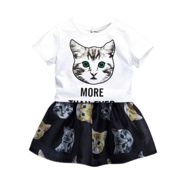 776d3900d 2018 Summer New Baby Girls Clothing Sets Fashion Style Cartoon ...