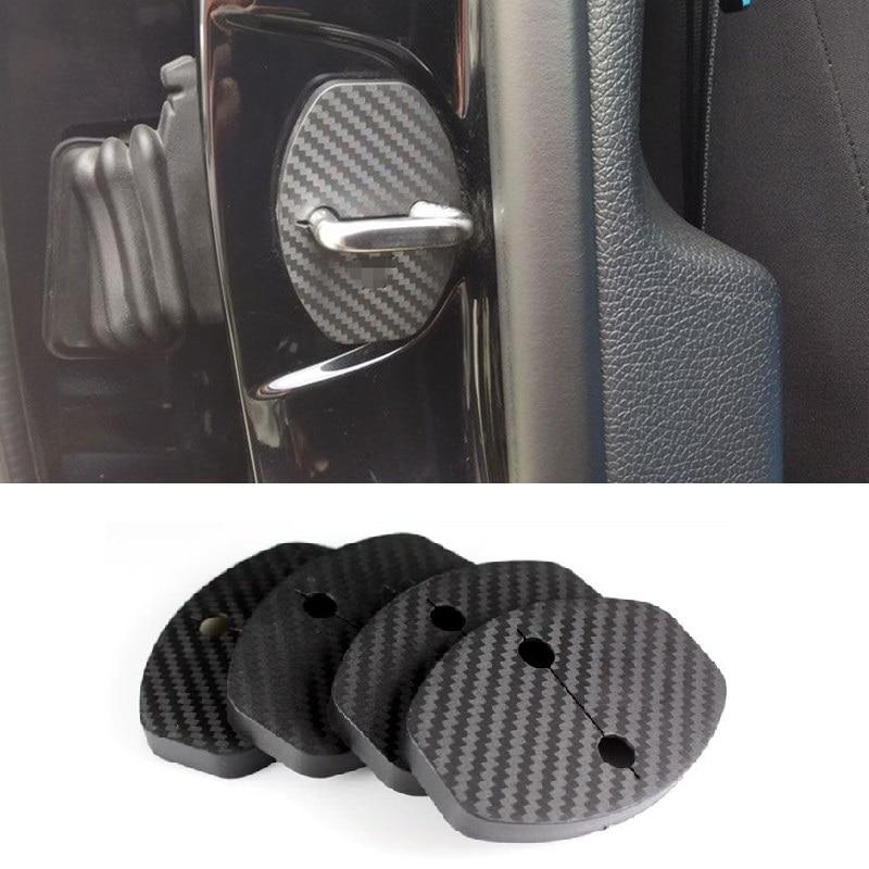 4Pcs/Lot Door Lock Protect Cover Cap Car Stickers Suitable for Seat Ateca FR S SE XCELLENCE 2016 2017 2018 Car Accessories