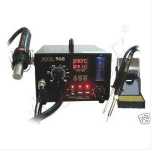 Original New 220V Aoyue 968 SMD Hot Air 3 in 1 550W Repairing & Rework Station Soldering Irons & Stations welding iron hot free shipping by dhl 6pcs 220v atten at969d 969d digital soldering stations soldering irons