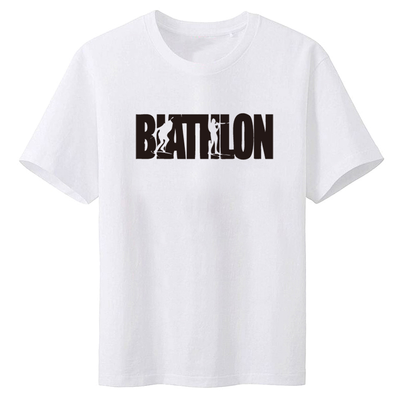 New Tops 2017 Print Letters Men T-Shirt Print Shirts Biathlon Wintersport Schrift T-Shirt Men Clothing xxxl