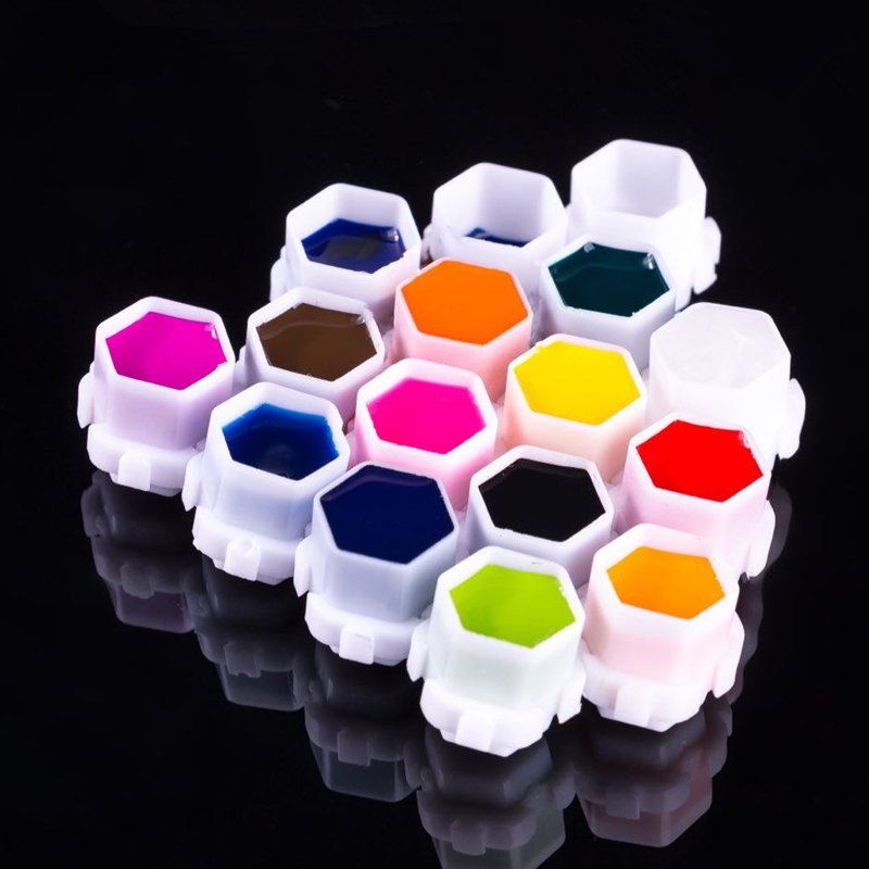 Hot Sale! Professional Hive Ink Cup Honeycomb Shape Tattoo Ink Cups Caps For Tattoo Accessories Wholesale 200pcs/bag