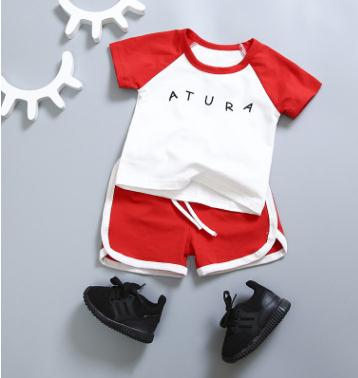 Kids Wear 2018 Summer High Qulity Baby Boys Clothes Set for 1 2 3 4 Year Children Outfit Sports Suits for A Boy SY-F172233