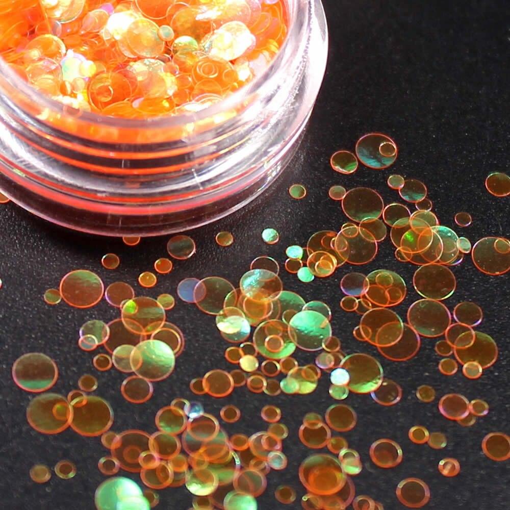 1 коробка блестящие круглые ультратонкие блестки Красочные Блестки для дизайна ногтей УФ гель 3D декоративный Маникюр DIY аксессуары NR234 - Цвет: Светло-желтый