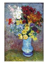Paintings by Vincent Van Gogh Flowers In a Blue Vase wall art Hand painted High quality