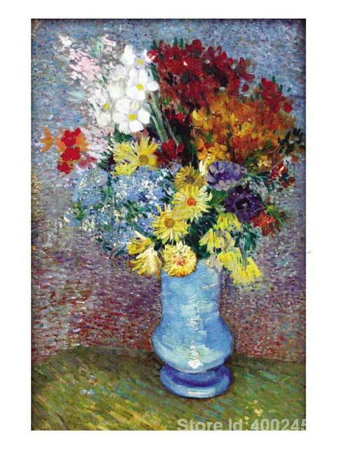 Paintings By Vincent Van Gogh Flowers In A Blue Vase Wall Art Hand