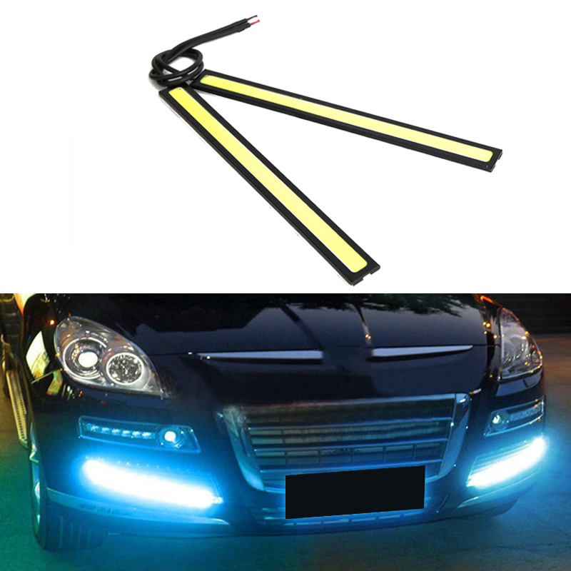 Universal Waterproof Daytime Running lights COB Fog Lamp Car Styling Led Day light DRL Lamp(China)