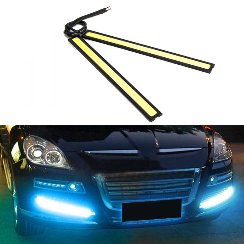 Universal Waterproof Daytime Running lights COB Fog Lamp Car Styling Led Day light DRL Lamp