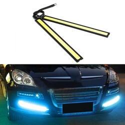 Универсальный водостойкий дневные ходовые огни противотуманная COB фара автомобильный Стайлинг светодиодный дневной свет DRL лампа