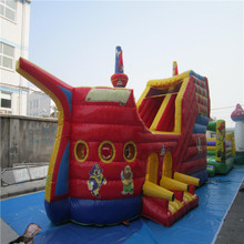 Inflatable trampoline castle Small children's inflatable bouncer trampoline slide YLW-bouncer 202