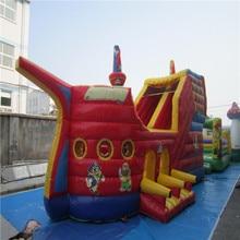 Inflatable trampoline castle Small children's inflatable bouncer trampoline slide YLW-bouncer 202