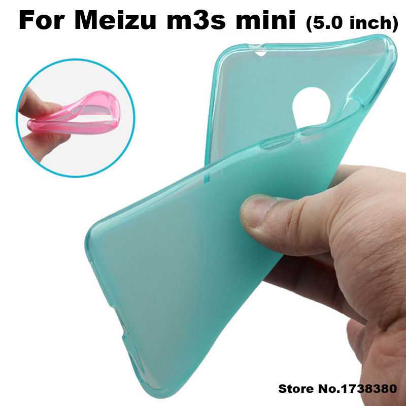Meizu m3s mini font b Case b font Cover 4 Colors Matte TPU Soft Back Cover