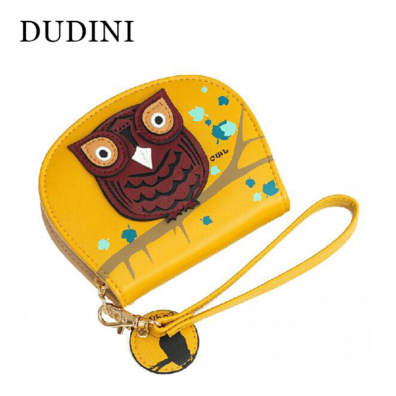 Cartoon Mini Wallets New Fashion Korean Owl Short Women Wallet Small Change Purse Ladies' Creative Clutch Card & ID Holders cartoon short wallet pocket monster pokemon satoshi pikachu short wallets two fold purse children wallet gift