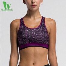 VANSYDICAL Women Yoga Bras Underwear Running Fitness Gym Workout Sports Tops