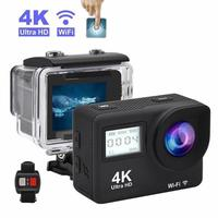 4K Action Camera 2.0Touch Screen WIFI Dual Screen 12MP Helmet Camera 30m DV 170 Degree Wide Angle Lens Sport Cam