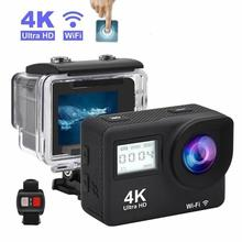 "4K Action Camera 2.0""Touch Screen WIFI Dual Screen 12MP Helmet Camera 30m DV 170 Degree Wide Angle Lens Sport Cam"
