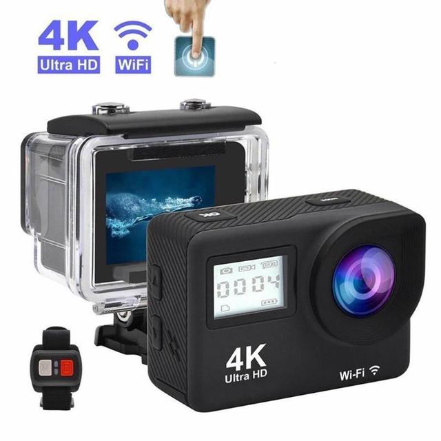 """4K Action Camera 2.0""""Touch Screen WIFI Dual Screen 12MP Helmet Camera 30m DV 170 Degree Wide Angle Lens Sport Cam"""