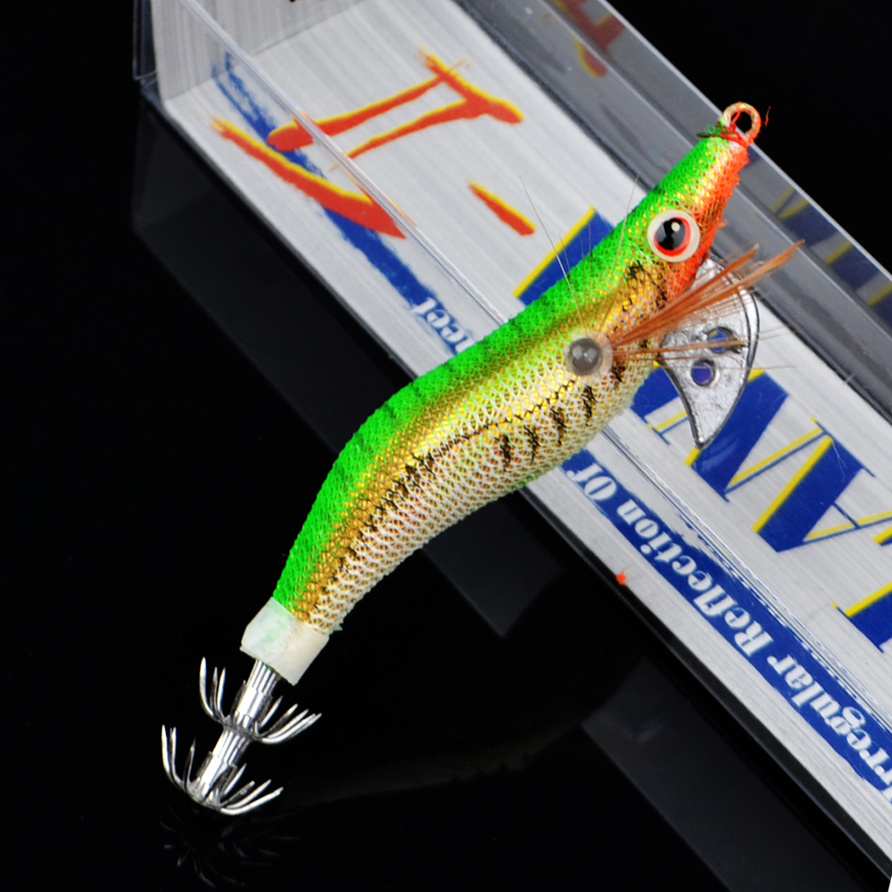 3PCS/Lot Squid Jig 3g 12cm YO-ZURI Fishing Popper Artificial Shrimp Swimbait Trout Lure Fishing Crankbait Japan Fishing Tackle yo zuri