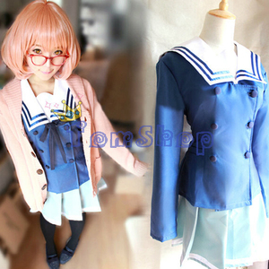 Image 1 - Anime Kyokai no Kanata (Beyond the Boundary) Kuriyama Mirai Cosplay Costume Japanese Girls School Uniform and Sweater
