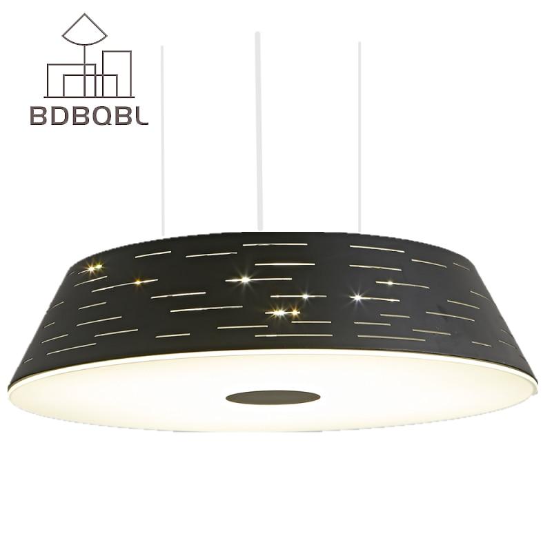 BDBQBL Modern LED Pendant Light Nordic Restaurant lights Loft Round Dining Room Bedroom Pendant Lamp Hanging lights White/Black купить б у бампер крыло переднее левое фара левая для киа спектра в спб