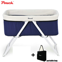 Pouch Baby Travel Crib, Foldable Infant Cot With Portable Bag, Newborn Baby Travel Bassinet