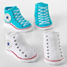 100% Cotton Cute Baby Newborn Children Solid Socks Socks Wholesale Super Cute Children Shoes Socks Rubber Sole Baby Socks Stereo