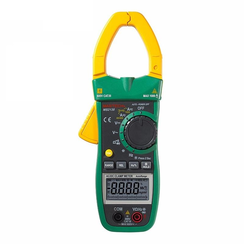 MASTECH MS2138 Digital 1000A AC DC Clamp Meter Multimeter Electrical Current 4000 Counts Voltage Tester with High Performance цена