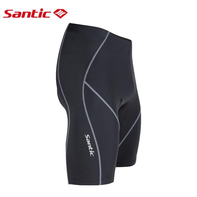 SANTIC Men Cycling Shorts 4D Pad Shockproof MTB Road Bike Riding Short pants Breathable Reflective Sport