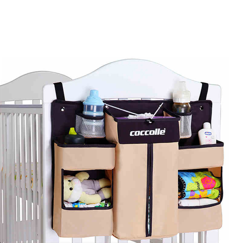 Washable Nursery Organizer Baby Crib Bed Hanging Storage Bag Newborn Stuff Diaper Stacker Caddy for Baby