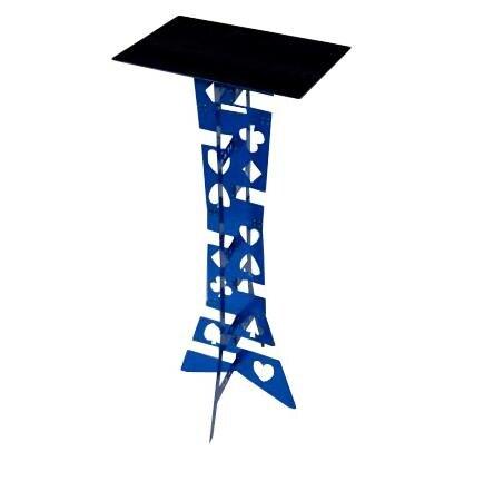 Table pliante magique en alliage d'aluminium, couleur bleue, meilleure table du magicien, tour de magie, scène, illusions, accessoires