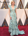 2017 88th Academy Awards Red Carpet Celebrity Dress Luxury Crystal Feather Cate Blanchett Mermaid Long Evening Gowns Vestidos