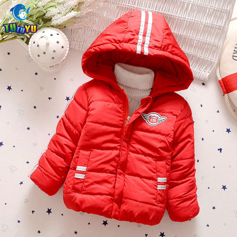 TUTUYU Children Clothing Boys Winter Jackets Black Down Coat Zipper Warm Cotton Jacket Causal Hooded Kids Outerwear High Quality high quality boys thick down jacket 2017 winter new children warm detachable cap coat clothing kids hooded down outerwear