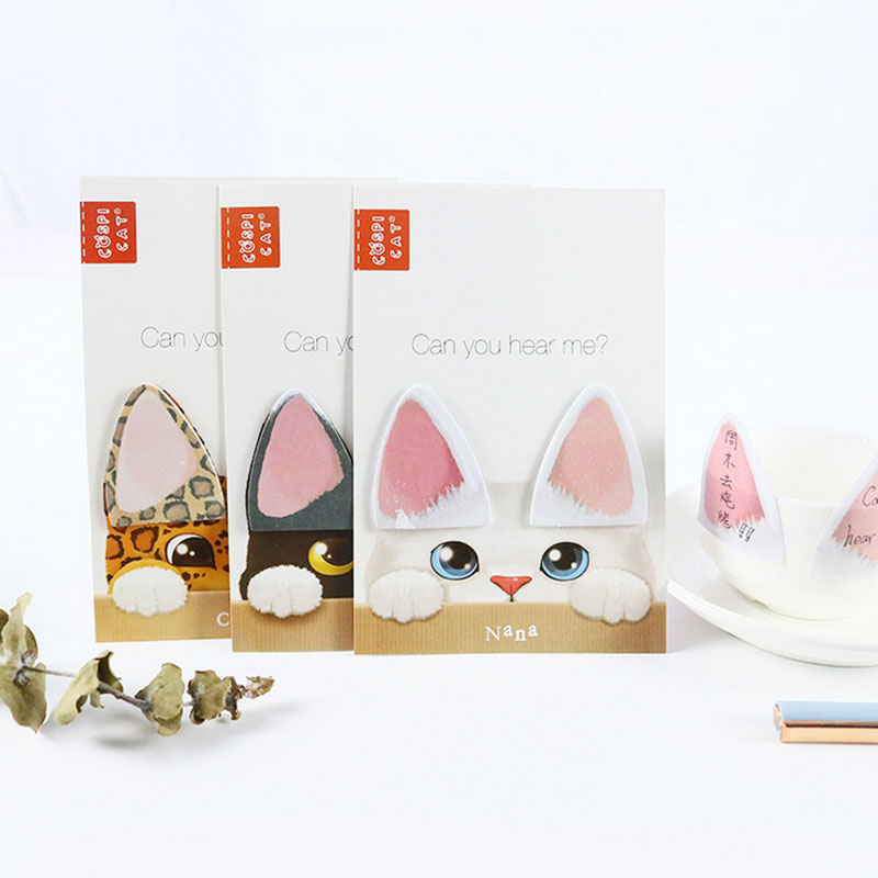 1pcs Cute cats ear memo pad paper post notes sticky note notepad stationery papeleria office school supplies kids gift