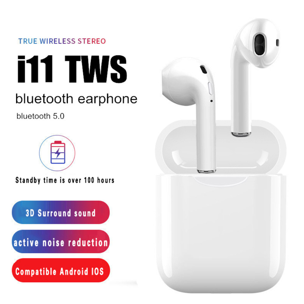 <font><b>i11</b></font> <font><b>TWS</b></font> <font><b>Bluetooth</b></font> <font><b>5.0</b></font> <font><b>Wireless</b></font> <font><b>Earphones</b></font> <font><b>Earpieces</b></font> mini Earbuds i7s With Mic For iPhone X 7 8 Samsung S6 S8 Xiaomi Huawei LG image