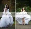 Vestido Де Noiva 2016 Высокий Низкий Свадебные Платья Свадебные Платья Плюс Размер Халат Де Брак 2016 Свадебное платье Casamento