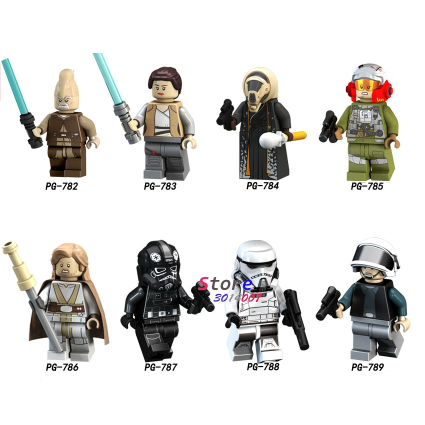 50pcs Solo A Star Wars Story Storm Troops Rebel Tie A-Wing Pilot Ki-Adi-Mundi Rey Luke Skywalker building block for children toy
