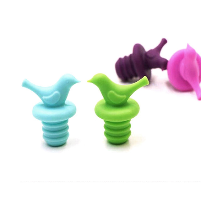 Bird Shaped Silicone Bottle Stopper